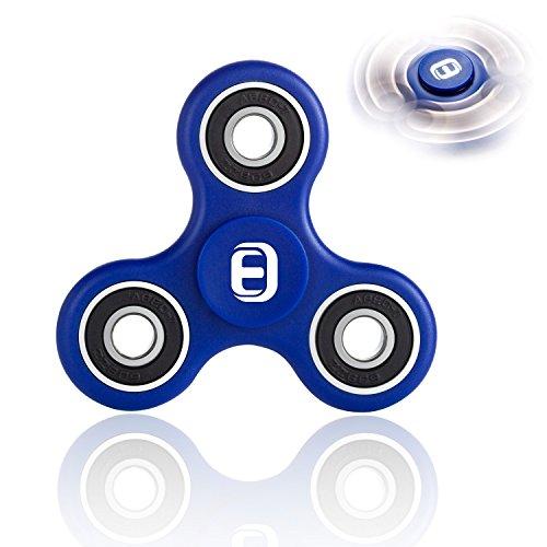Oriental eLife Fidget Spinner, edc Fuoco Giocattolo Mano filatore - mitigatori di Stress per ADD, ADHD allevia Lo Stress, l'autismo e l'ansia e Relax per Bambini e Adulti (ABS, Blue)