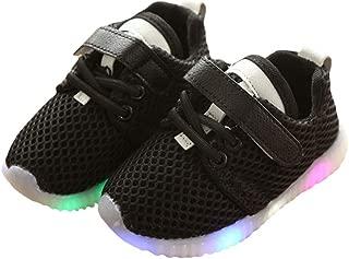 Hopscotch Boys Mesh Mesh LED Shoes - Black