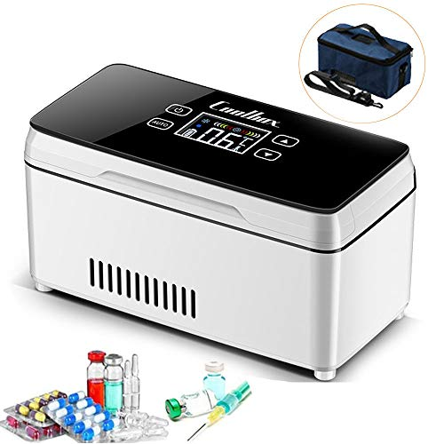 WHR-HARP Nevera Portatil Insulina, Neveras Medicamentos, Diabetes Mini Refrigerador, con Pantalla LED, para Insulina Diabética Refrigerada y Temperatura,Touchscreen-Withoutbattery