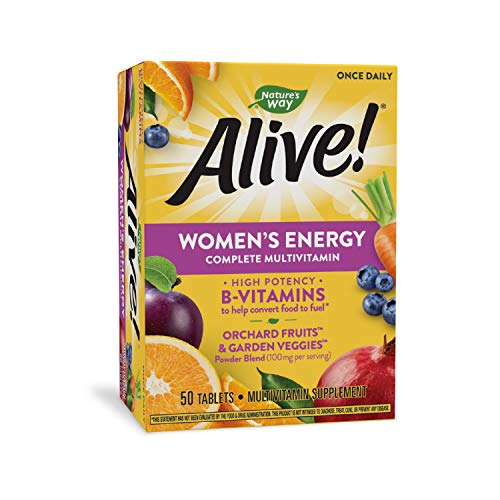 Nature's Way Alive! Womens Energy Complete Multivitamin, High Potency B-vitamins, 50 Tablets, 50 Count