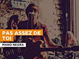 Pas assez de toi in the Style of Mano Negra