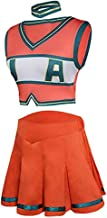Baycon My Hero Academia Asui Tsuyu Cheerleader Cheerleading Cosplay Costume Uniform