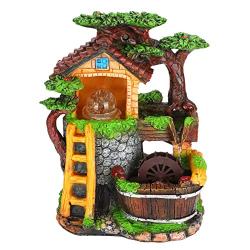 Desktop Fountain Decoration Indoor Simulation Resin Rockery Fake Tree Feng Shui Landscape Table Ornaments Tabletop Ornament Water Fountains Home Decor