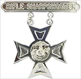 USMC US Marine Corps Rifle Sharpshooter 1.875' Qualification Badge Lapel Pin (Rifle Sharpshooter)