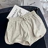 ShSnnwrl Pantalones Cortos de Mujer Shorts Women Solid Drawstring Basic Loose Korean Style Outerwear Students Unisex Boyfriend Leisure Summer La