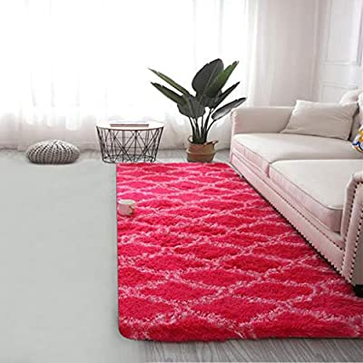 Amazon - Save 80%: Ultra Soft Indoor Modern Area Rugs Shaggy Fluffy Living Room Carpets for…