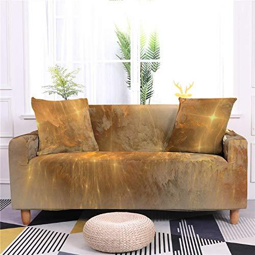 Funda universal para sofá de spandex, elástica, color marrón nube, con patrón ajustado, para sofá de 1/2/3/4, funda protectora para sofá de 2, 145,185 cm