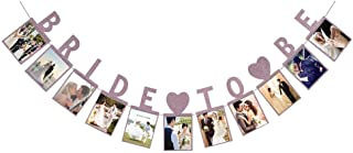 Bride To Be Photo Banner Gold Foiled For Wedding Sign Bridal Shower Banner Hen Night Decoration (Pink)