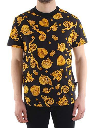 VERSACE JEANS COUTURE Hombre Camiseta Gold Baroque Nero L