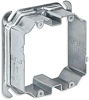 Steel City 52CADJ2 Adjustable Mud Ring, 4 in L x 4 in W x 2-1/8 in D, Steel, 1/2 to 1-1/2 in Raised