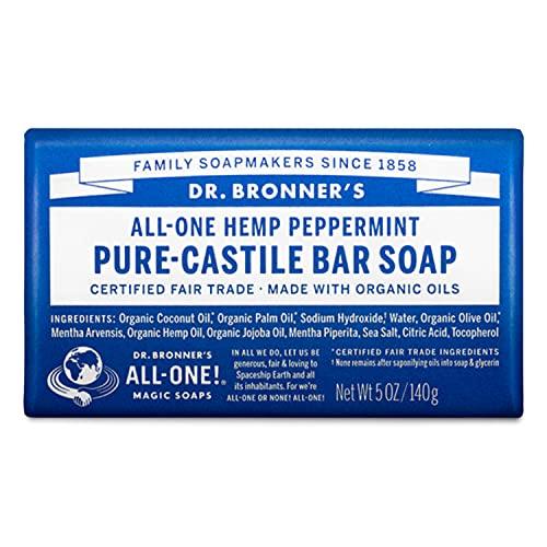 Dr Bronner's, Savon à la menthe poivrée ,140g (paquet de 1)