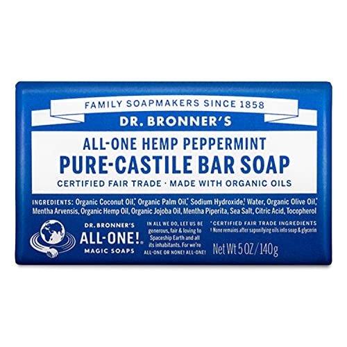 Dr Bronner's, Savon à la menthe poivrée ,140g (paquet...