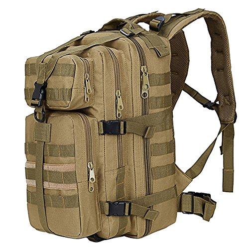 Sac à Dos Portable, Beetest® 35L grande capacité extérieur extensible militaire tactique sac à dos imperméable voyage randonnée Camping trekking escalade chasse sac d'ordinateur portable kaki