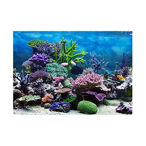B Blesiya Aquarium Hintergrund Poster Aufkleber Wand Dekor - Korallen, S