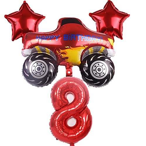 JSJJAES Globos Blaze y The Monster Machines Set de Globos Fiesta de cumpleaños Decoración Feliz Cumpleaños Aluminio Globo Suministros (Color : Style 8)