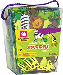 Creative Hands Foam Sticker, 5-Ounce, Safari