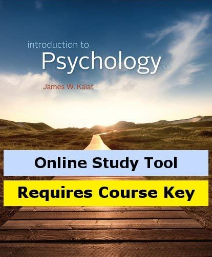 CourseMate Limited time sale for Kalat's Introduction 10th Popular shop is the lowest price challenge Edition Psychology to