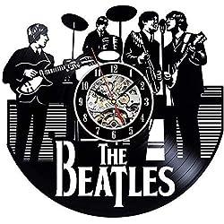 Vinyl Record Wall Clock Vinyl Record Wall Clock Meet Beauty Ding The Beatles Music Band Theme Creative Custom-Made by Hand