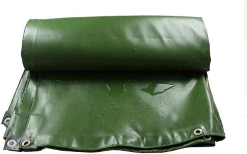 Waterproof tarpaulin NAN Bache d'ombre de Pluie extérieure Anti-Solaire de bache de Dessus de Vert Plus épais 0.7MM - 700 g   M2 (Taille   4  5m)