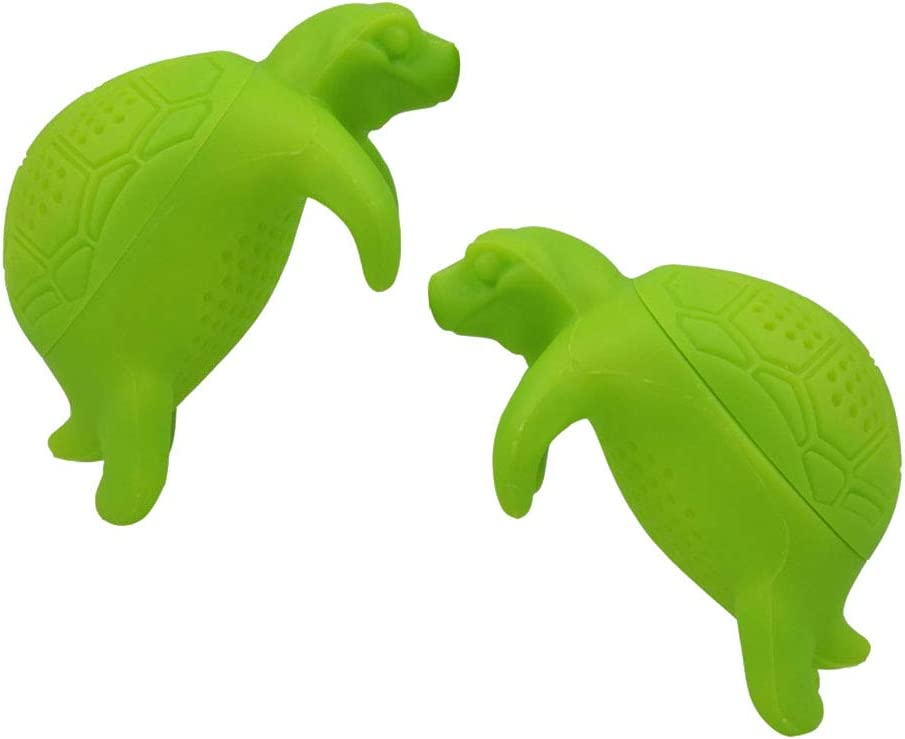 Useful 2021 spring and summer new 2PCS Cute NEW before selling Silicone Turtle Tea Leaf Loose T Infuser Animal