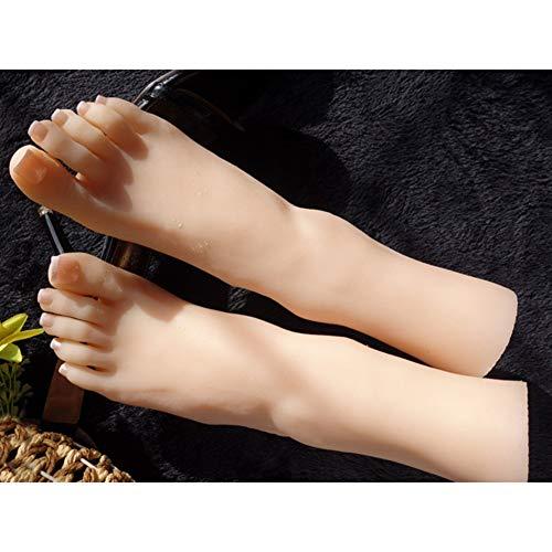MEShape 38A Super Real Female Lebensgroße Schaufensterpuppe Fußmodell Silikon Füße Modell für Schmuckschuhdisplay