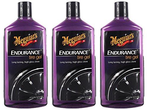 Meguiar's 3X MEGUIARS Endurance High Gloss Reifenschwarz Reifenschutz 473 ml