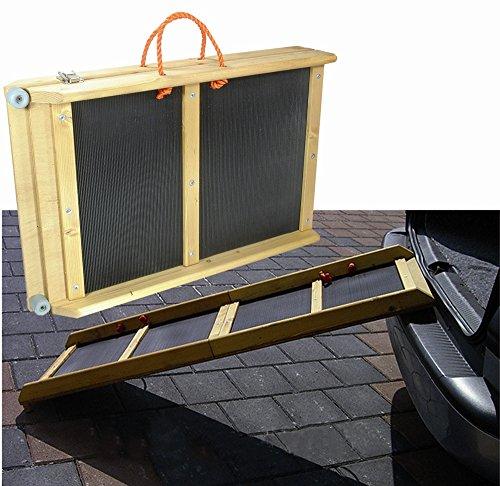 Elmato Hunde-Einstiegshilfe, Hunderampe, Hundetreppe,Autotreppe 120x40 cm tragbar