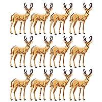 12枚入り 刺繍 パッチ 布 ワッペン アップリケ 補修布 衣類パッチ 鹿 かわいい