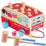 Holzspielzeug Montieren Sie Das Beat-Auto FrüHes Lernauto 1-2-3 Jahre Alte MäNnliche Und Weibliche Babys Klopfen An Das HöLzerne Drag-Car