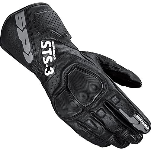 SPIDI Motorradhandschuhe lang Motorrad Handschuh STS-3 Lederhandschuh schwarz XL, Herren, Sportler, Ganzjährig