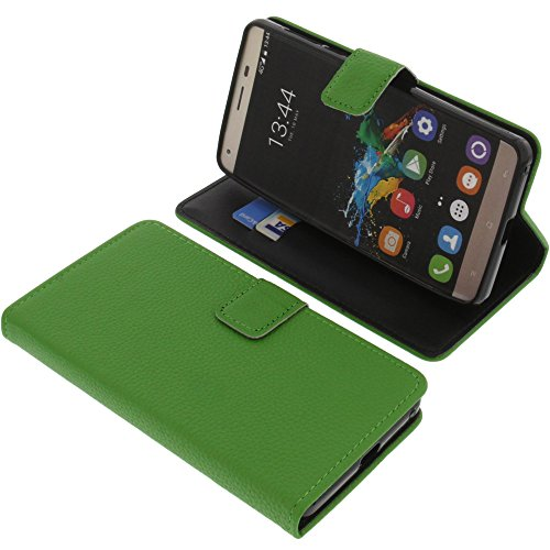 foto-kontor Tasche für Oukitel K6000 Pro Book Style grün Schutz Hülle Buch