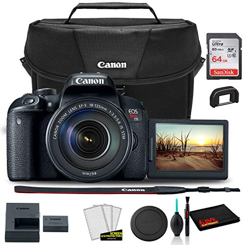 Buy Cheap Canon EOS Rebel T7i DSLR Camera with 18-135mm Lens (1894C003) + Canon EOS Bag + Sandisk Ul...