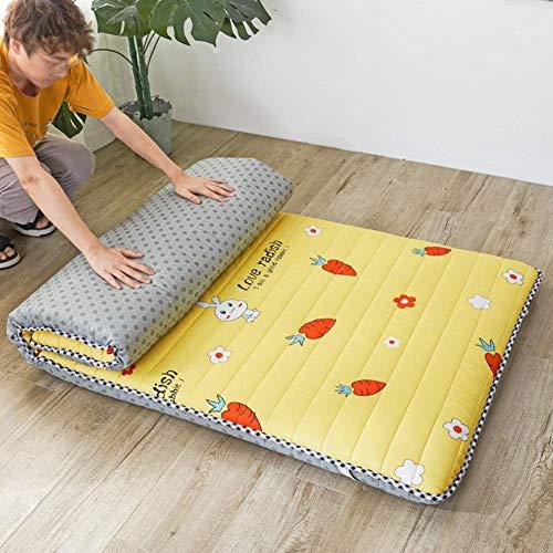 YDYL-LI Tatami Floor Mat,Traditional Japanese Futon Mattress Bed Folding Pad Tatami Mat Dorm Mattress Topper For Family,Hotel,Picnic,Camping Brown 150x200cm(59x79inch)