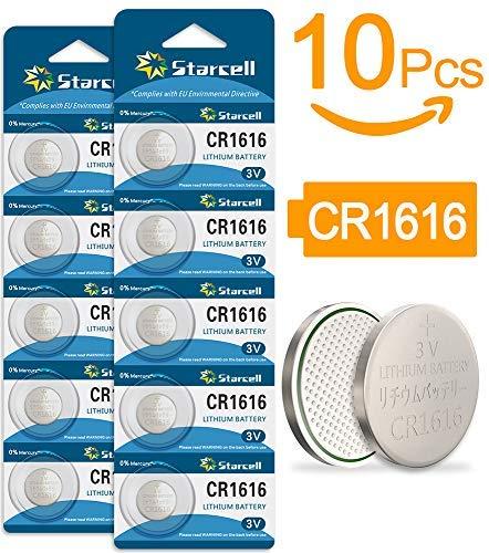 Act 10 x CR1616 Lithium knoopcel 3 V batterij
