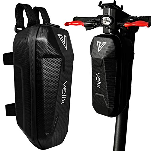 velix XXL Bolsa para Manillar de Scooter eléctrico - Mochila de 3 L para Patinetes eléctricos con Carcasa rígida