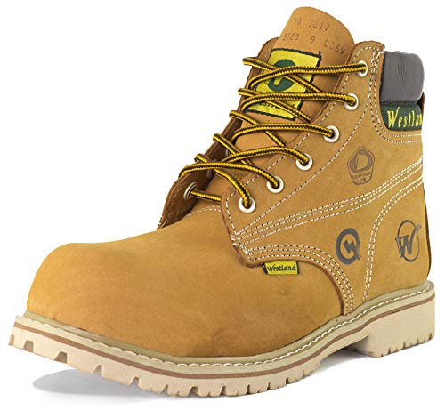 Westland Men's 6'' Tomcat EH Composite Toe Water Resistant Leather Work Boots (10, Yellow Nubuck)