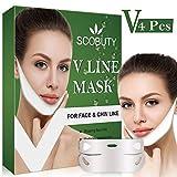 V Maske,V Gesichtsmasken,V Sculpt Maske,V Förmige Slimming Maske,Miracle V-Shaped Slimming Mask,V-Linie Face Chin up Lift Gesichtsformung Straffung 4 Stück