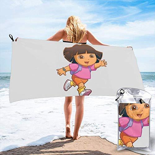 """Yuanmeiju - Toalla de baño de secado rápido para la toalla Dora The Explorer Lightweight Outdoor Beach Towel QuickDrying Lightweight Bathroom Towel 27.5""""X55"""""""