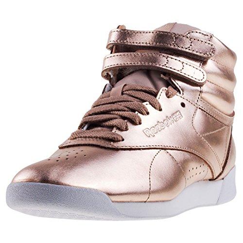 Reebok F/S HI Metallic, Zapatillas de Deporte Mujer, Rosa (Rose Gold/White/Silver Peony 000), 37 EU