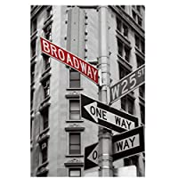 NYブロードウェイ道標ポスター絵絵画キャンバス壁アートとリビングルームの家の装飾のためのプリントキャンバスにプリント50x70cmフレームなし