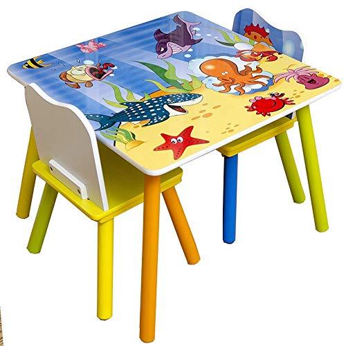 Equipo diario Juego de escritorio y silla para niños Juego de mesa y silla para niños para leer Sala de juegos Aula Silla de actividades para niños pequeños Juego de sillas para mesa para niños Mes