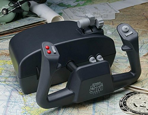 CH Products Flight Sim Yoke - Volante/mando (Simulador de Vuelo, Mac, PC, Alámbrico, USB 2.0, Negro)