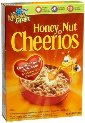 General Mills Honey Nut Cheerios Cereal, 12.25 Ounce -- 12 per case. by General Mills