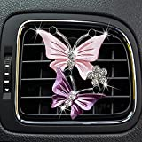 Creative Car Aromatherapy Vent Clips Dual Butterfly Car Air Vent Freshener Perfume Clip Aroma Diffuser Decoration, Car Perfume Aromatherapy Love Car Air Conditioning Vent Perfume Clip