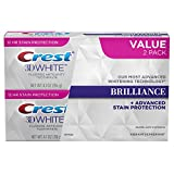 Crest 3D Brilliance Vibrant Teeth Whitening Toothpaste, Peppermint, 2 Count