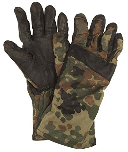 Mil-Tec BW Handschuhe Leder Flecktarn Sommer gebraucht-neuwertig