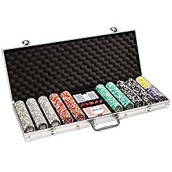 cheap 500 Count Ace Casino Poker Set-Aluminum Housing, Playing Cards,… 14g Clay Composite Chips