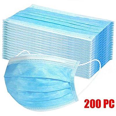 QixinWluo Bandana - 200PC Non-Woven Fabric 3 Ply Disposable Face Bandana No Activated Carbon Filter