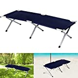Inditradition Portable Folding Camping/Picnic Recliner, Cot - (74 x 24 x 17 Inches)