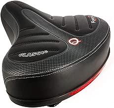 HEYNEMO Bike Seat Comfortable Memory Foam Waterproof Bike Saddle, Universal Bicycle Saddle for Cycling, Shock Absorbing Oversized Soft Padded Bike Saddle